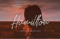 Hamilton Script Font