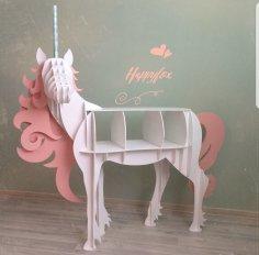 Стол полка  единорог для кэнди бара и декора Free Vector