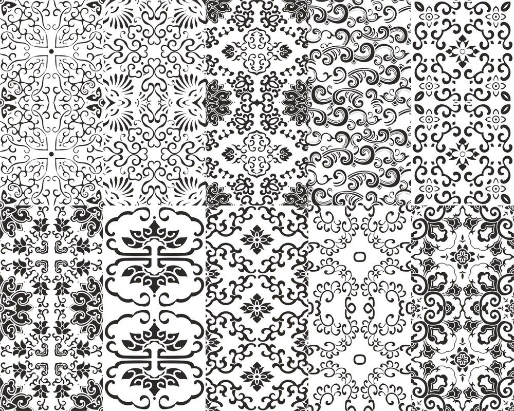 Chinese Pattern Set Free Vector