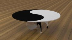 Yin Yang Table 3D Puzzle Free Vector