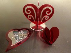 A Heart Decoration DXF File