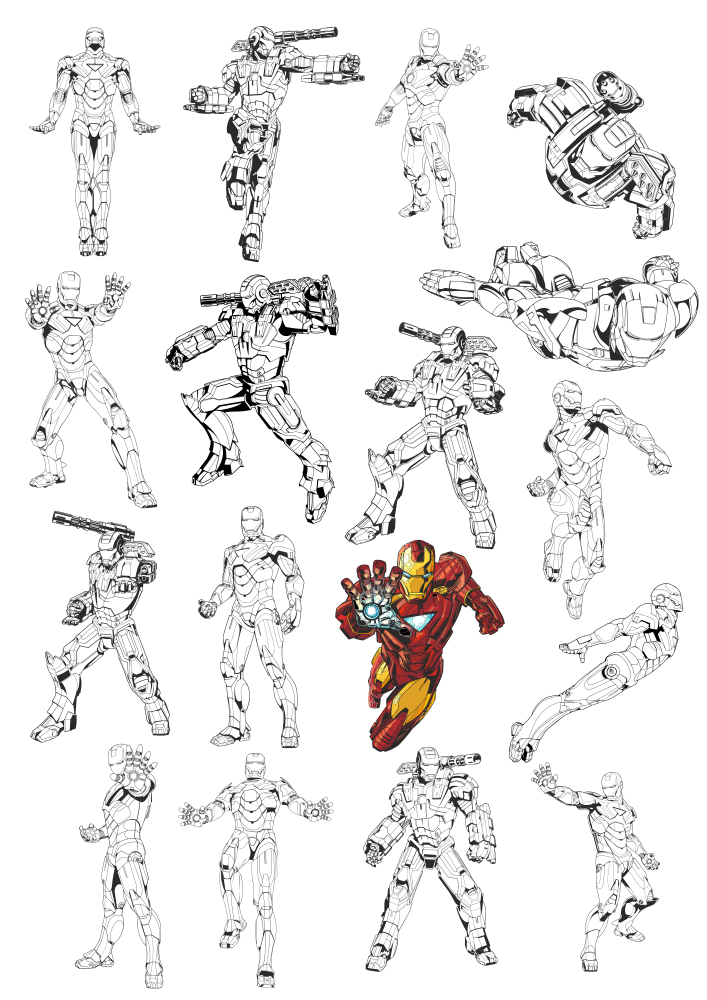 Iron Man Vectors Free Vector