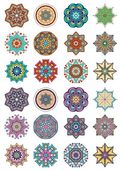 Round Ornaments Vector Art Free Vector