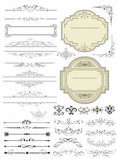 Decorative Line Art Free Vector