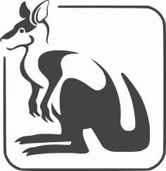 Kangaroo Logo DXF File