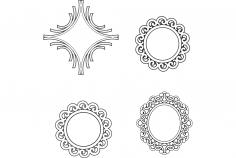 Multiple Mirror Frame Designs dxf File