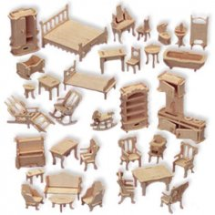 Doll house furniture 2 dxf File