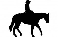 Cowboy On A Horse dxf File