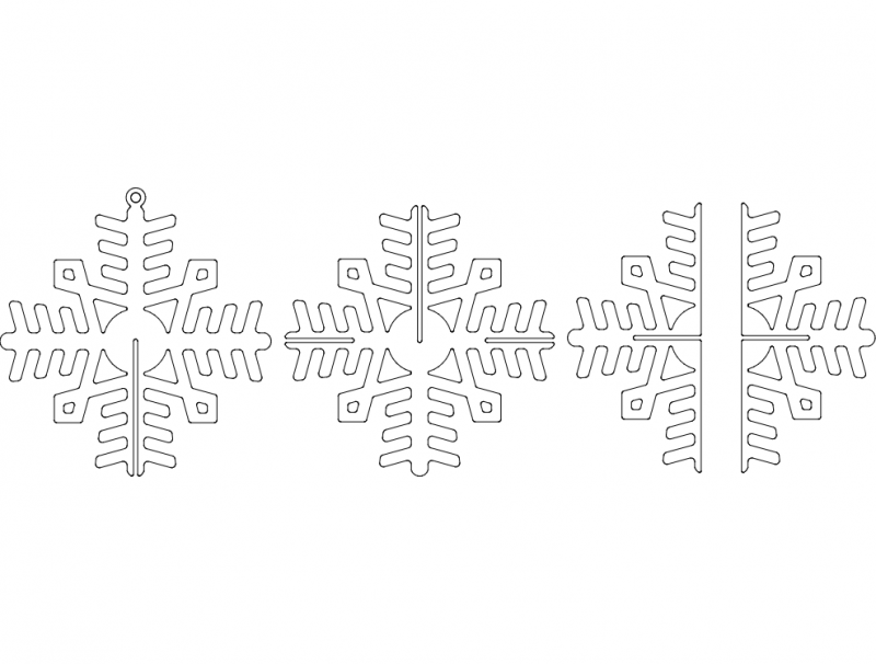 3D Snowflake 16ga dxf File