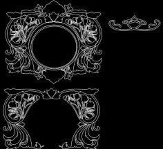 Mirror Frame 0056 dxf File