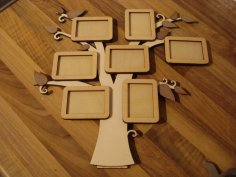 Photo Frame Tree Free Vector