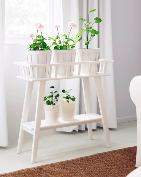 Laser Cut Flower Stand Indoor Plant Decor Free Vector