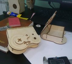 Laser Cut Wooden Box With Rotary Latch Free Vector