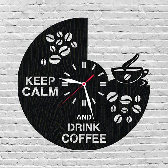 Coffee clock dxf file