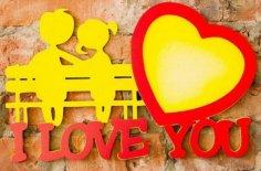 Laser Cut Love Photo Frames I Love You Photo Frame Free Vector