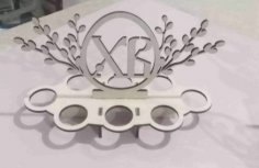 Laser Cut Decorative Easter Egg Stand Free Vector