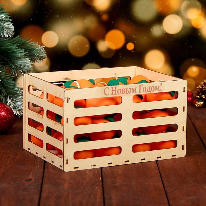 Laser Cut Wooden Crate Gift Box Basket Free Vector