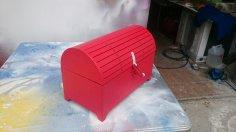 Laser Cut Treasure Box Free Vector