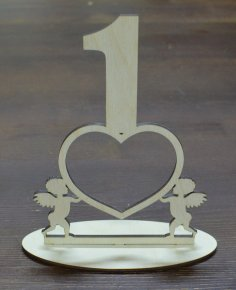 Laser Cut Table Numbers Free Vector