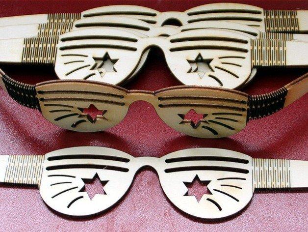 Laser Cut  Plywood Glasses Template SVG File
