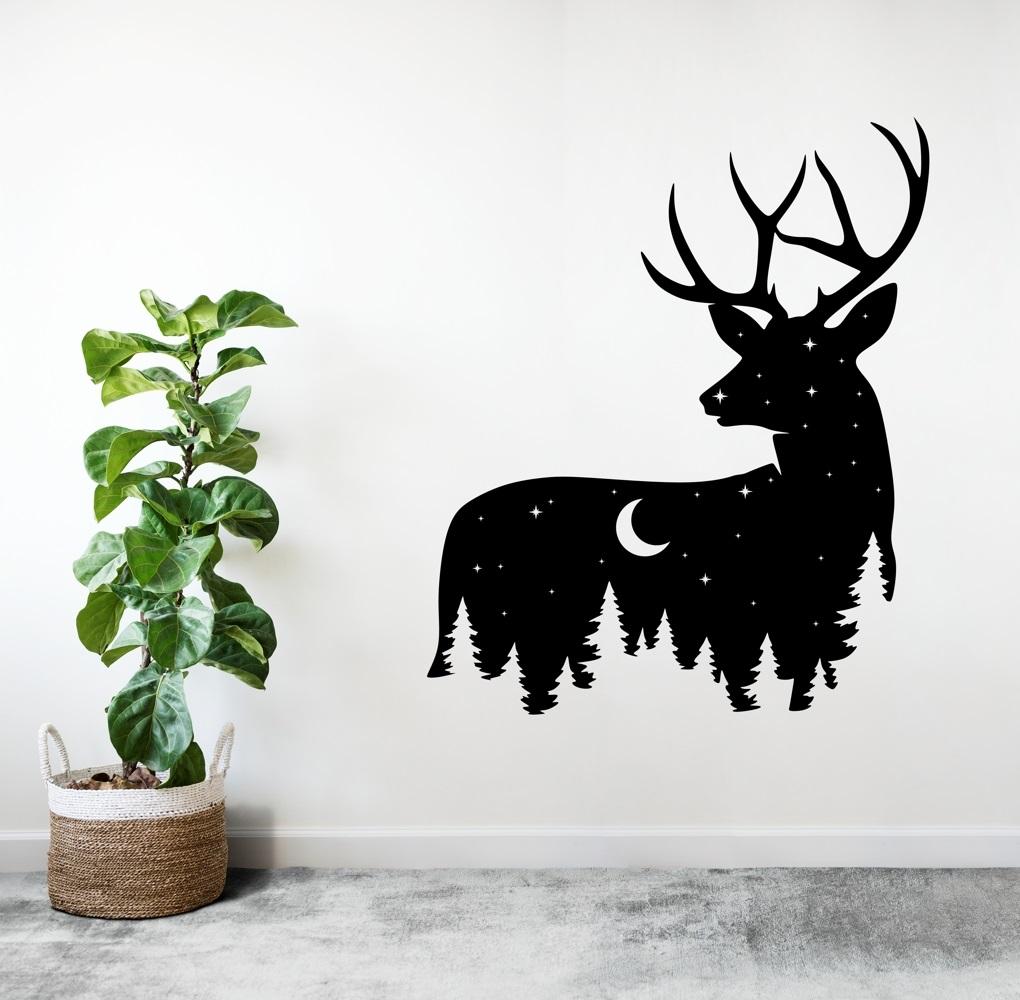 Laser Cut Deer Wall Art Wildlife Wall Decor Free Vector