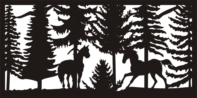 Wildlife Metal Art Panel DXF File