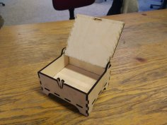 Box with Lid Laser Cut Free Vector