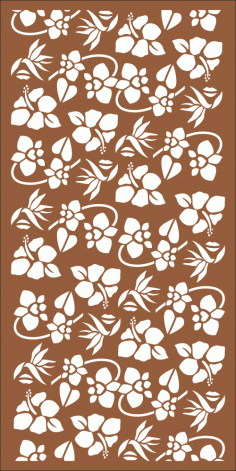 Seamless Floral Pattern for Laser Cutting Free Vector