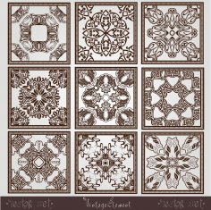 Old Vintage Square Pattern Free Vector