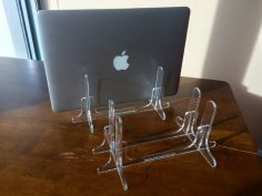 Mac Book Air Pro Laptop Stand Laser Cut Free Vector