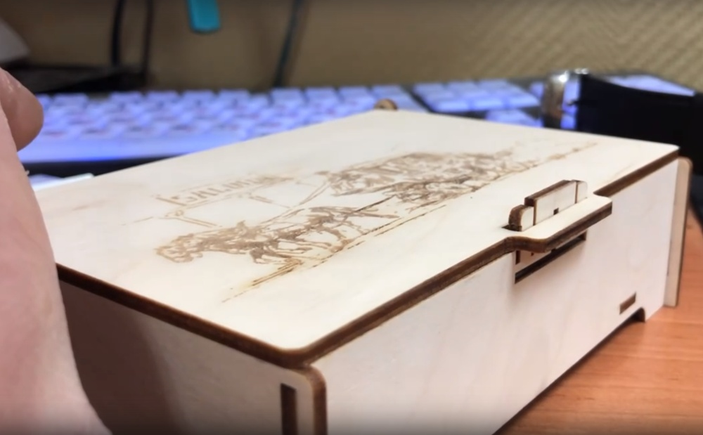 Laser Cut Decorative Wooden Box With Lock Free Vector