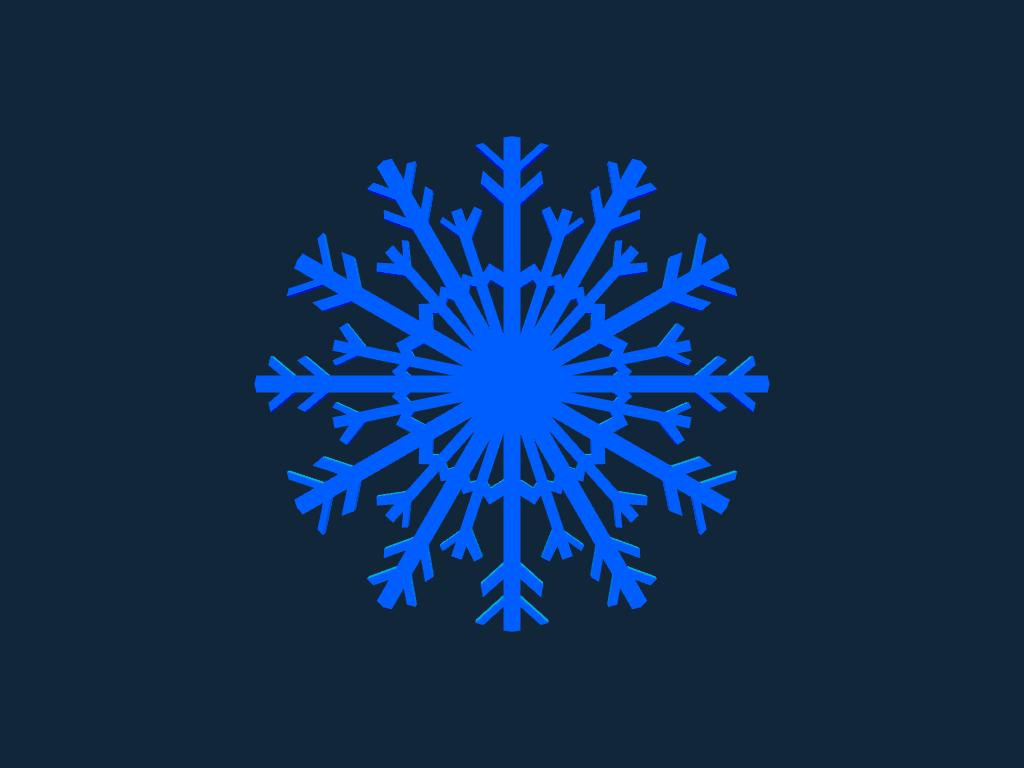 Snowflake white stl file