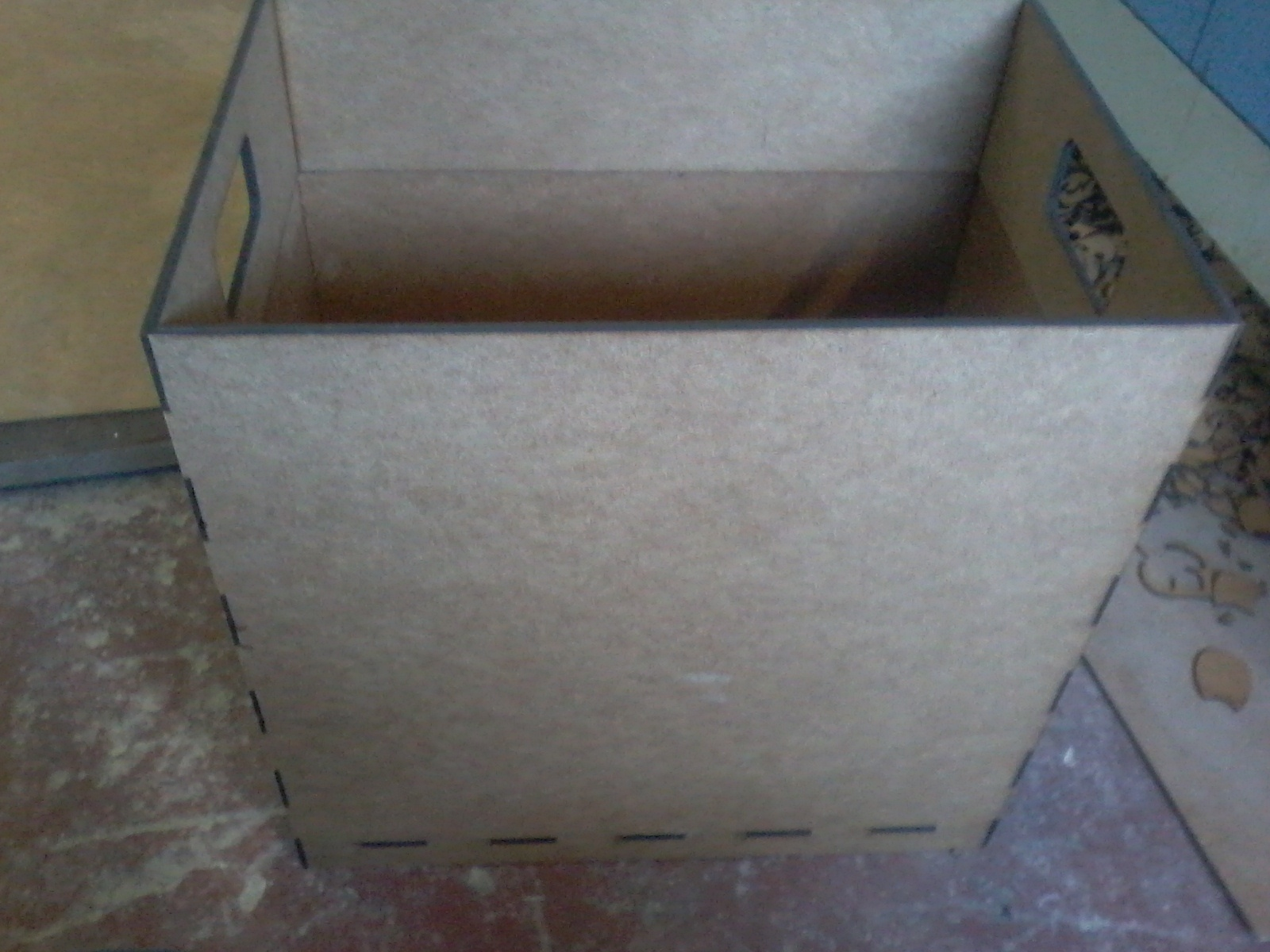 Laser Cut Trash Box Wood Trash Bin DXF File