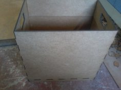 Laser Cut Trash Box Wood Trash Bin DXF File