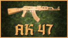 Laser Cut Wooden Toy AK-47 Gun Free Vector
