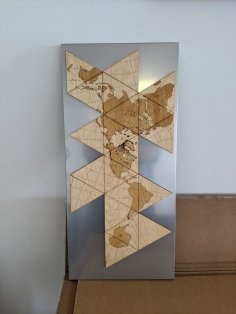 Laser Cut Dymaxion Map Wall Art SVG File