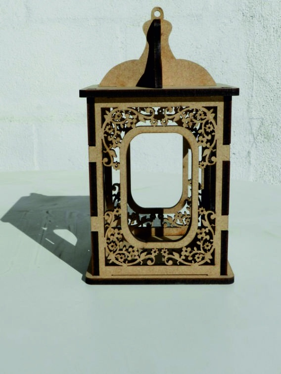 Laser Cut Wooden Candle Holder Candlestick Box Free Vector
