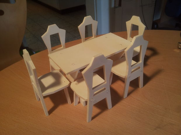 Table and Chair DXF File