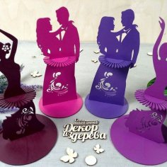 Laser Cut Napkin Holder Couple Free Vector