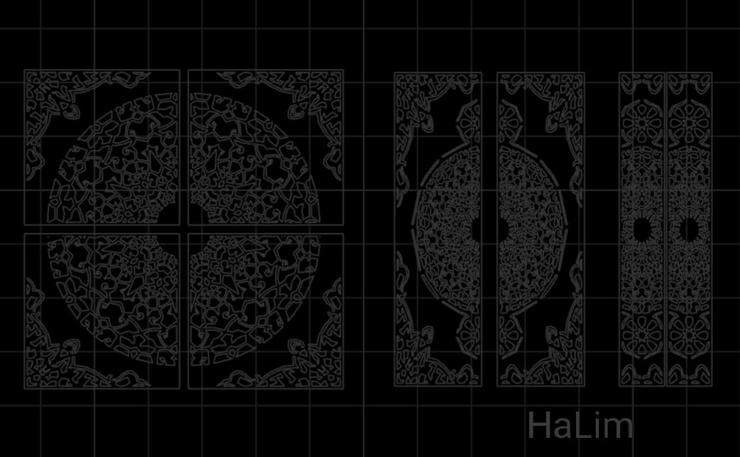 Islamic Pattern Door DXF File