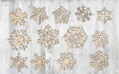 Laser Cut Snowflake Cut Out Vector Art Free Vector
