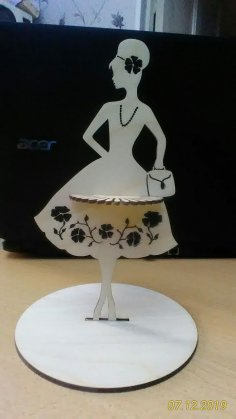Modern Lady Napkin Holder DXF File
