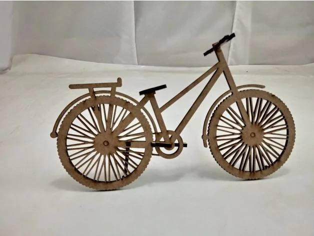 Laser Cut Bicycle Free Vector
