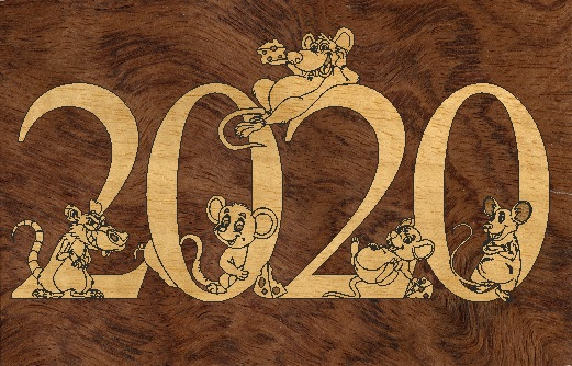 Laser Cut New Year 2020 Template Free Vector