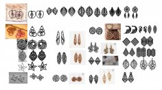Laser Cut Earrings Jewelry Templates Free Vector