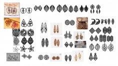 Laser Cut Earrings Jewelry Templates Free Vector