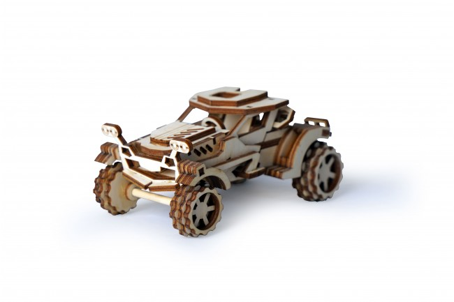 Laser Cut Wooden Car Toy Template Free Vector