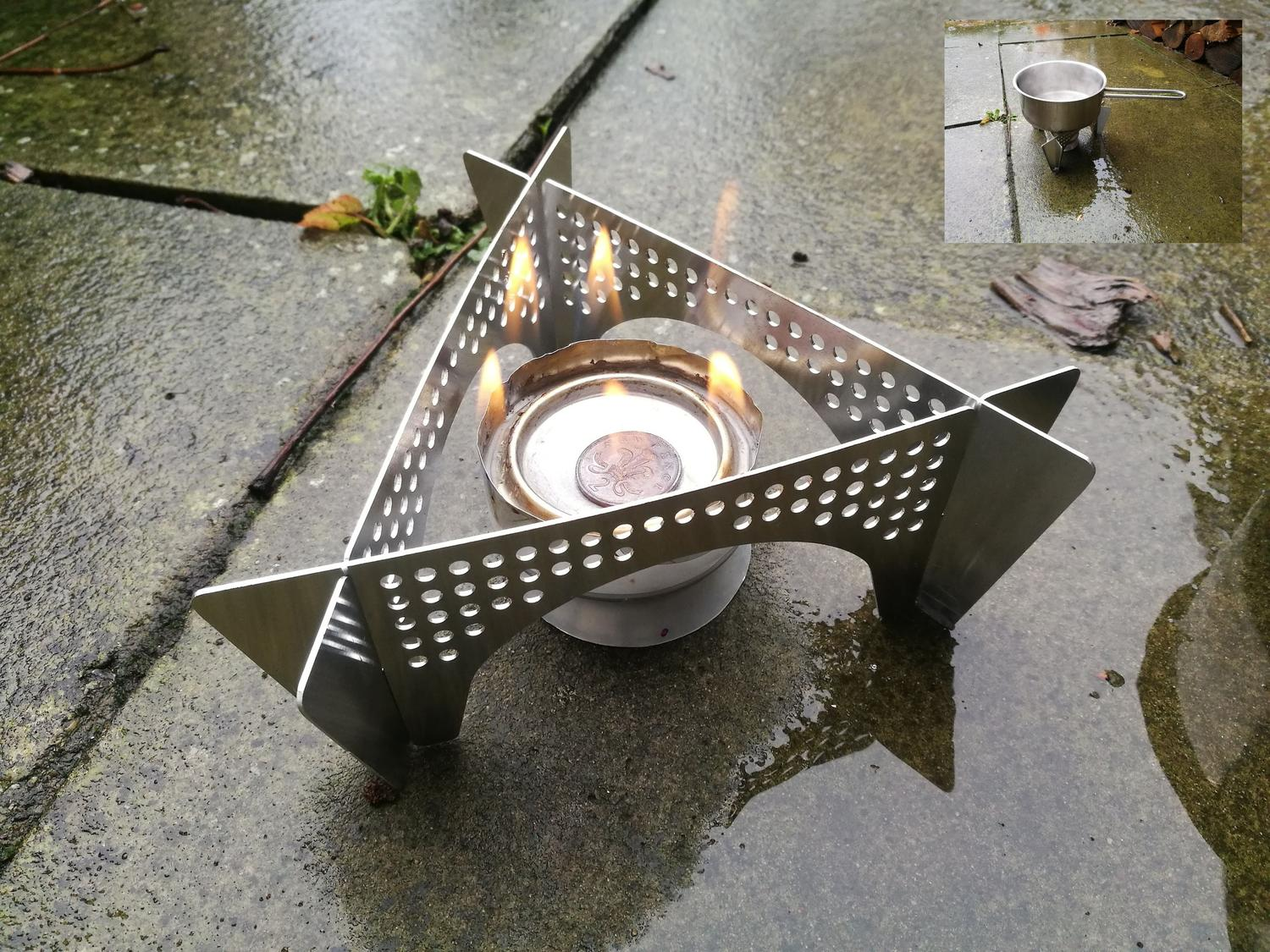 Laser Cut Stove Support Stand Base And Wind Shield For Outdoor Camping Plasma Cut DXF File
