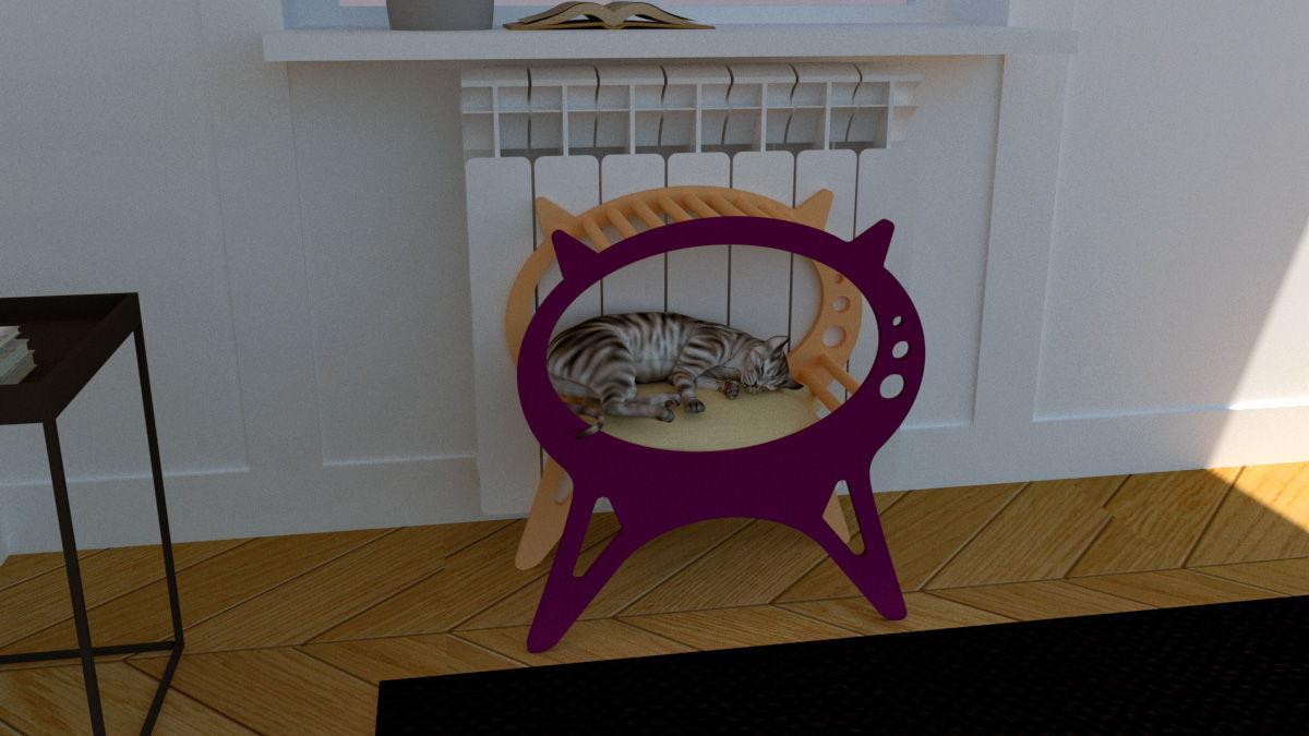 Laser Cut Kitten Cat House Cat Bed Pet House Free Vector