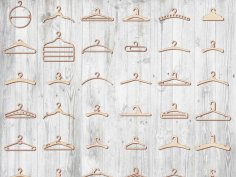 Laser Cut Hanger Pack Free Vector
